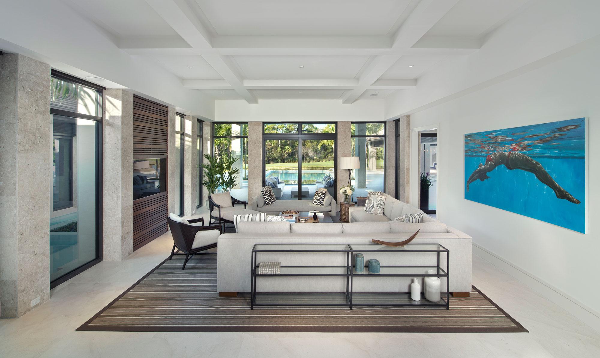 Wedo thiết kế nội thất phòng khách sang trọng và đẳng cấp cho biệt thự