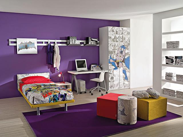 Wedo thiết kế nội thất phòng bé gái ngọt ngào,duyên dáng và trẻ trung với màu tím