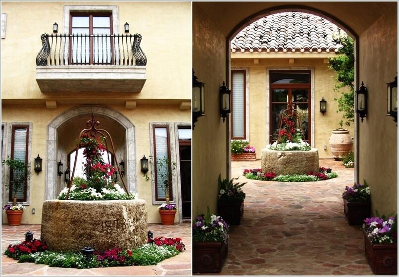 Wedo thiết kế tiểu cảnh sân vườn đẹp và độc đáo với chậu hoa lớn