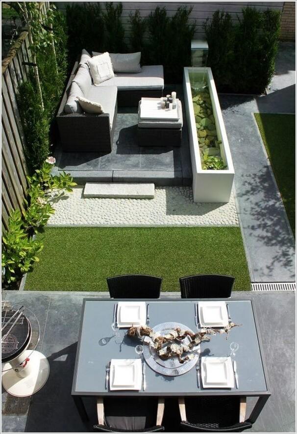 Wedo thiết kế tiểu cảnh sân vườn đẹp và độc đáo  với chỗ ngồi hiện đại