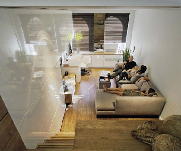 Wedo tư vấn thiết kế nội thất khéo léo cho phòng khách nhà siêu nhỏ