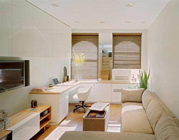 Wedo tư vấn thiết kế nội thất khéo léo cho phòng khách cho nhà siêu nhỏ