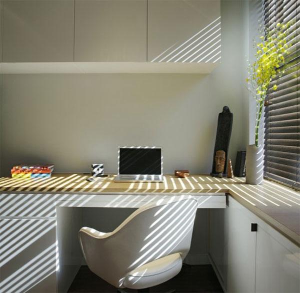 Wedo tư vấn thiết kế nội thất khéo léo cho phòng làm việc trong nhà siêu nhỏ