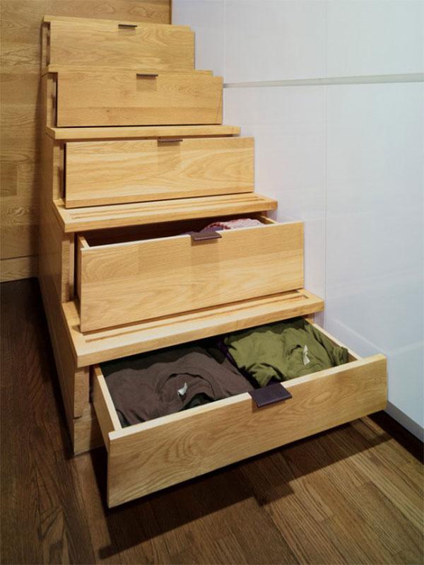 Wedo tư vấn thiết kế nội thất khéo léo cho nhà siêu nhỏ với cầu thang lưu trữ thông minh