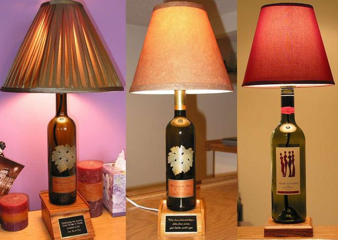 Wedo tư vấn trang trí nhà đẹp với chai rượu cũ làm bóng đèn