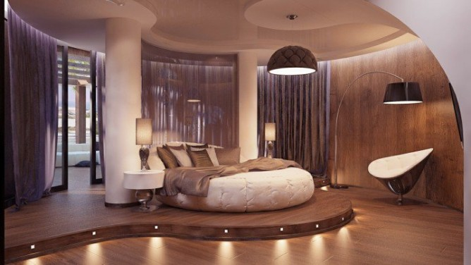 Wedo thiết kế nội thất phòng ngủ đẹp độc đáo, sang trọng với giường tròn