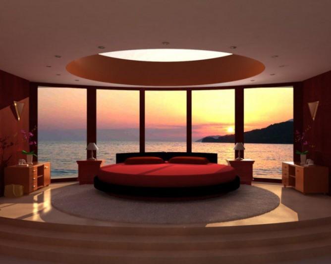 Wedo thiết kế phòng ngủ đẹp độc đáo, sang trọng với giường tròn