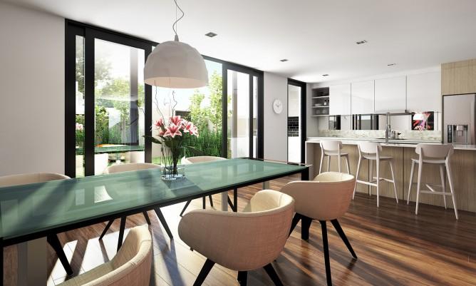 Wedo thiết kế nội thất sang trọng cho phòng ăn căn hộ cao cấp