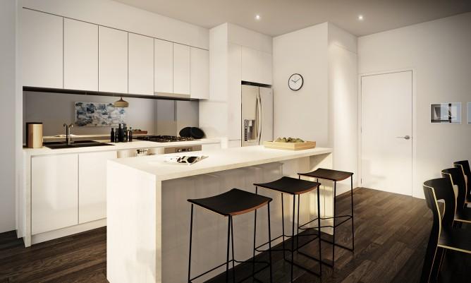 Wedo thiết kế nội thất sang trọng cho phòng ăn, nhà bếp căn hộ cao cấp