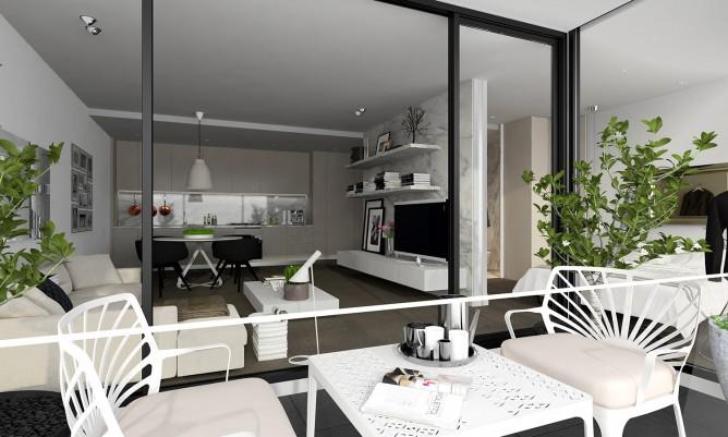 Wedo thiết kế nội thất sang trọng cho phòng khách căn hộ cao cấp
