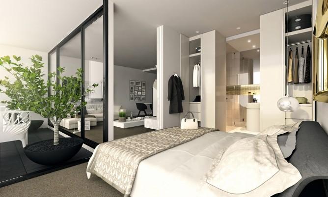 Wedo thiết kế nội thất sang trọng cho phòng ngủ cho căn hộ cao cấp