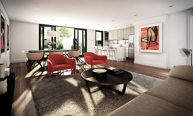 Wedo thiết kế nội thất sang trọng cho phòng khách cho căn hộ cao cấp