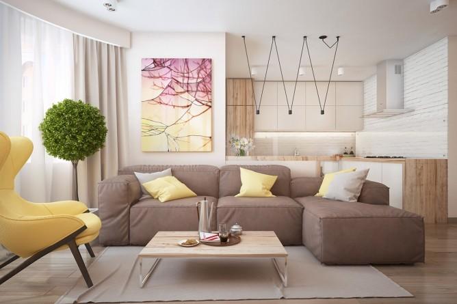 Wedo thiết kế nội thất phòng khách đơn giản, trẻ trung, tươi sáng và vui vẻ