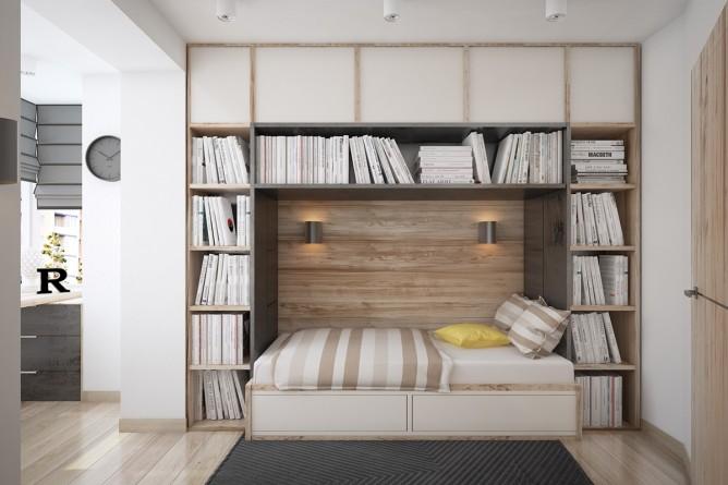 Wedo thiết kế nội thất phòng đọc sách đơn giản, tươi sáng và vui vẻ