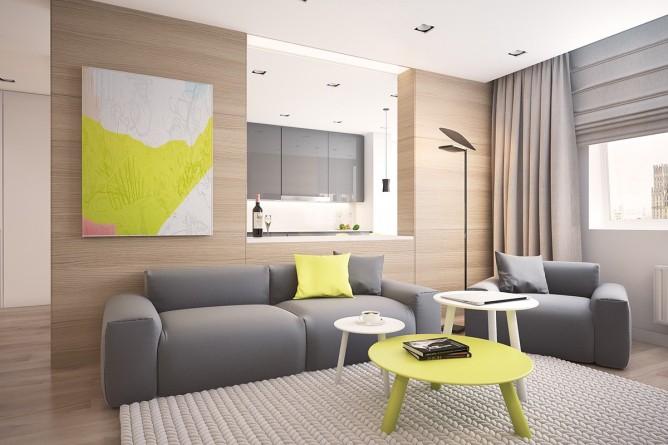 Wedo thiết kế nội thất phòng khách đơn giản, tươi sáng và vui vẻ