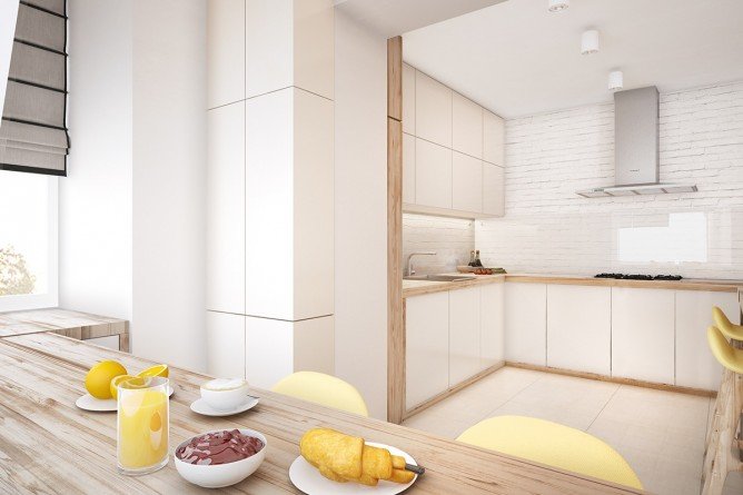 Wedo thiết kế nội thất phòng ăn đơn giản, tươi sáng và vui vẻ