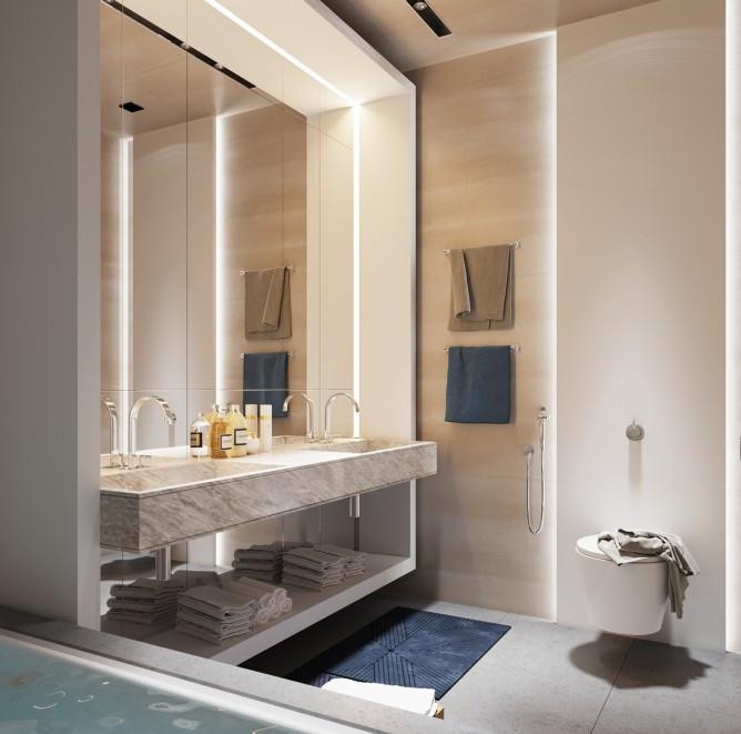 Wedo thiết kế nội thất phòng phòng tắm đơn giản, hiện đại cho nhà đẹp