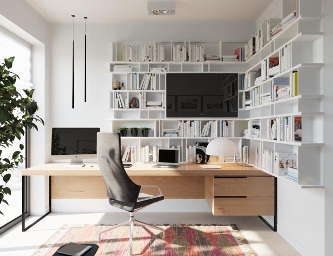 Wedo thiết kế nội thất phòng làm việc đơn giản, hiện đại cho nhà đẹp