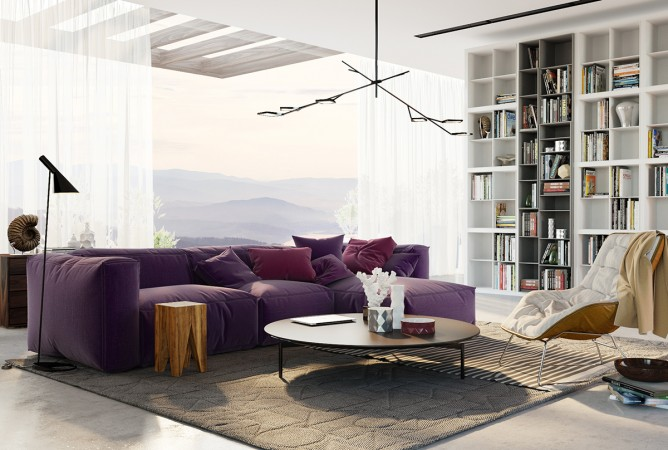 Wedo thiết kế nội thất phòng khách đơn giản hiện đại cho nhà đẹp