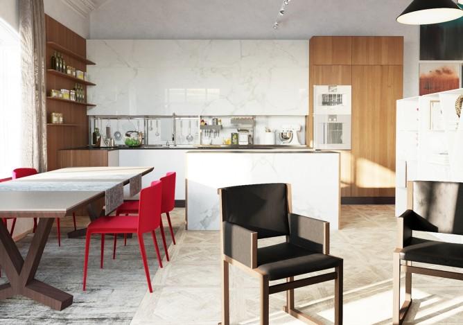 Wedo thiết kế nội thất phòng ăn đơn giản, hiện đại cho nhà đẹp