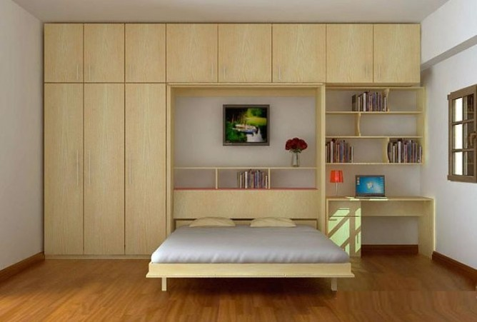 wedo tư vấn lựa chọn nội thất giường gấp cho nhà nhỏ