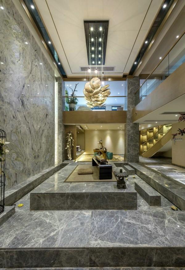 thiết kế nội thất sang trọng cho biệt thự với đá