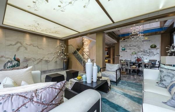 thiết kế nội thất phòng khách biệt thự sang trọng mang phong cách của những năm 80
