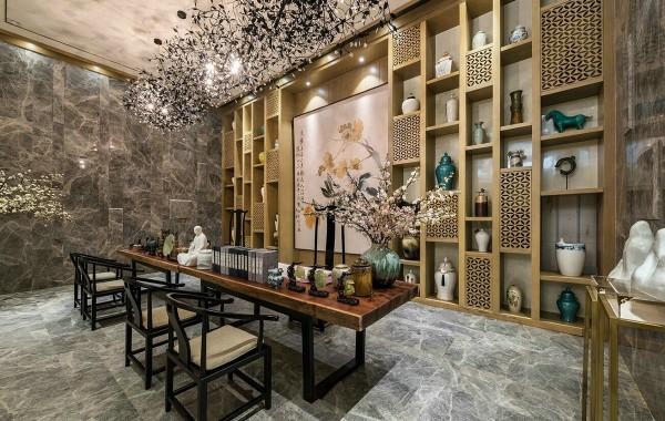 thiết kế nội thất phòng ăn, nhà bếp biệt thự sang trọng mang phong cách của những năm 80