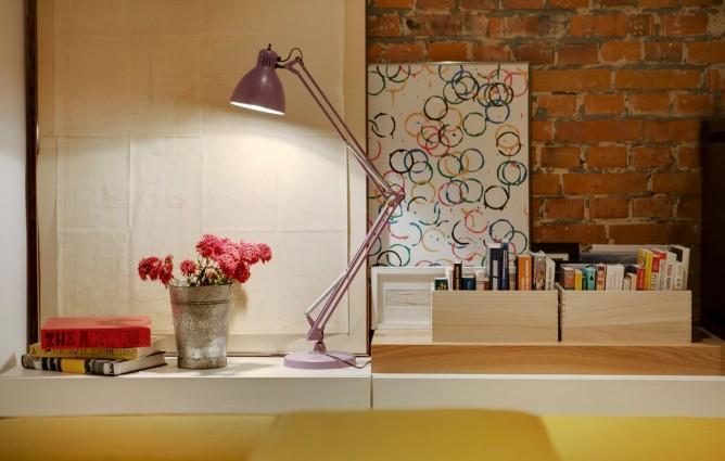 Wedo thiết kế nội thất với gạch trần đơn giản, hiện đại, tươi sáng