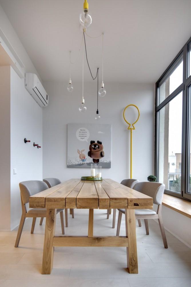 Wedo thiết kế nội thất với gạch trần đơn giản, hiện đại cho phòng ăn đẹp