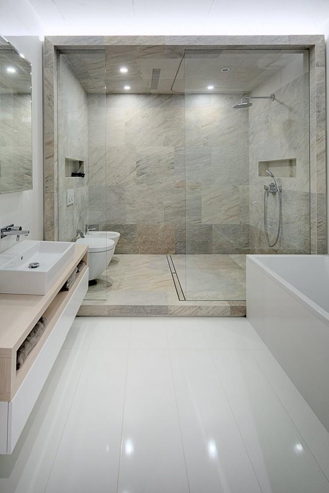 Wedo thiết kế nội thất với đá tự nhiên đơn giản, hiện đại cho phòng tắm đẹp