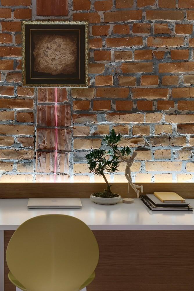 Wedo thiết kế nội thất với gạch trần đơn giản, hiện đại cho nhà đẹp