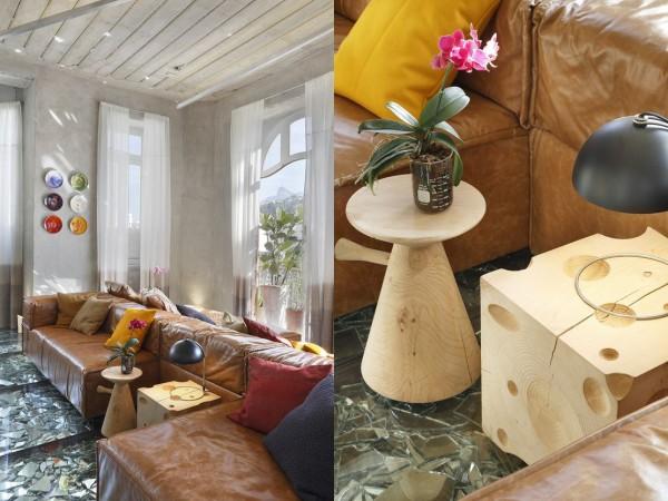 Wedo thiết kế nội thất sang trọng, độc đáo với sàn ép kính vỡ