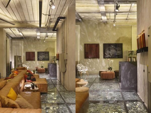 Wedo thiết kế nội thất nhà đẹp sang trọng, độc đáo với sàn ép kính vỡ