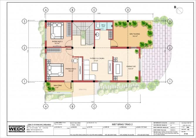 Wedo tư vấn thiết kế mặt bằng bố trí nội thất nhà 2 tầng