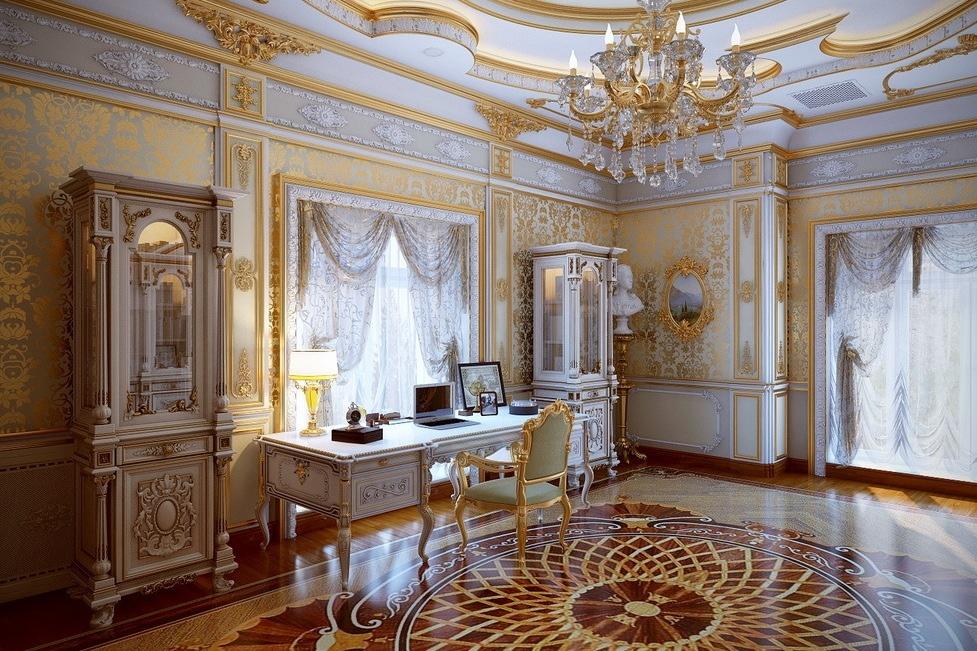 Thiết kế nội thất phòng khách sang trọng theo phong cách cổ điển thời đại Louis của Pháp