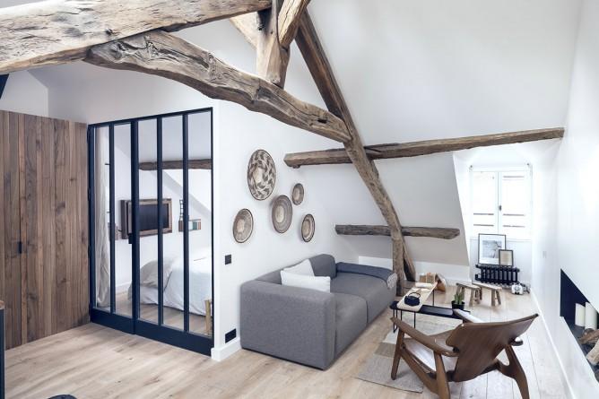 Thiết kế nội thất hiện đại, độc đáo phong cách Pháp cho phòng khách nhà nhỏ