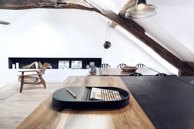 Thiết kế nội thất phòng bếp độc đáo theo phong cách Pháp cho nhà nhỏ