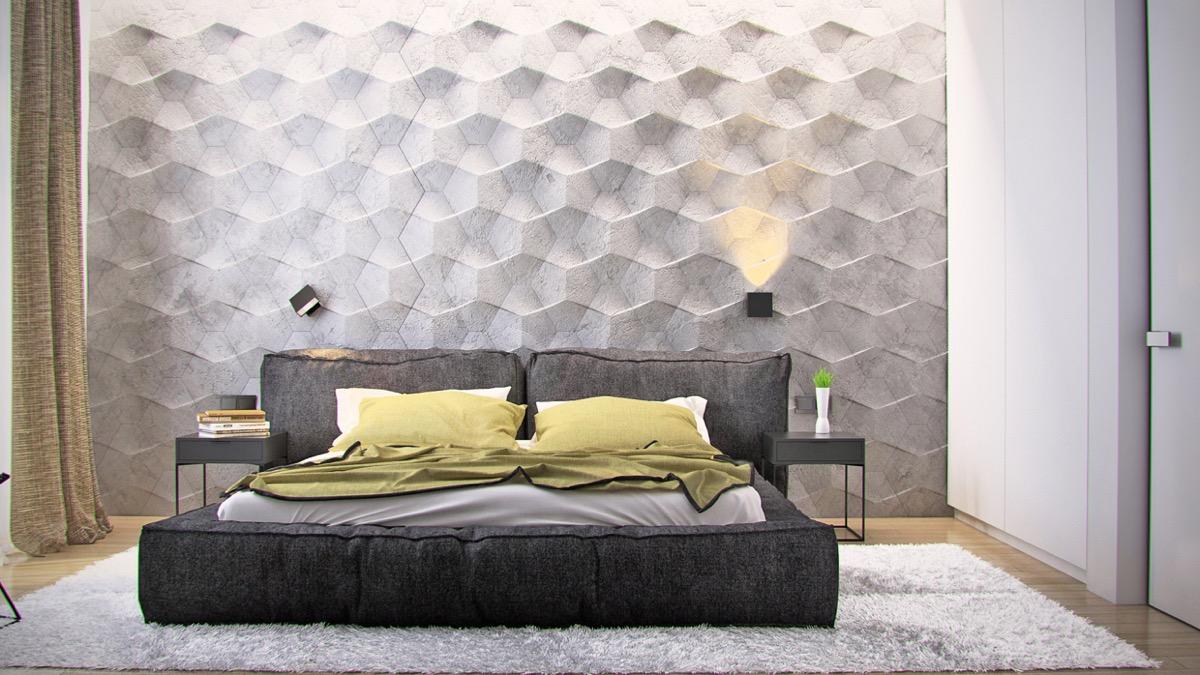 Thiết kế, trang trí mảng tường phòng ngủ độc đáo, hấp dẫn