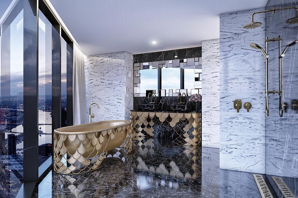 wedo tư vấn, thiết kế bồn tắm hiện đại, sang trọng cho biệt thự