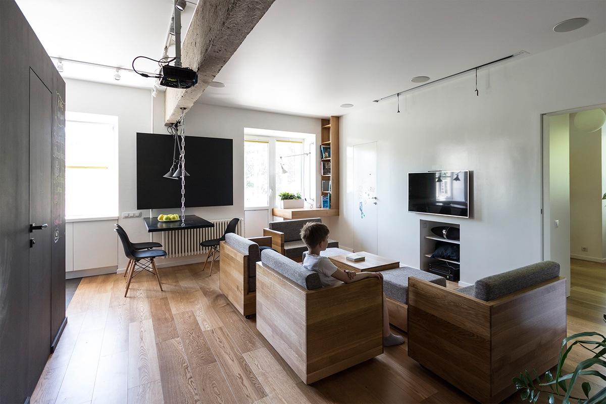 thiết kế nội thất độc đáo, thông minh và đa năng cho nhà nhỏ