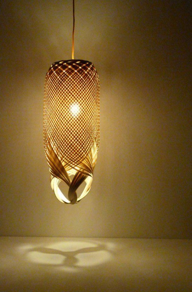 wedo thiết kế đèn chiếu sáng đẹp độc đáo với vật liệu tre