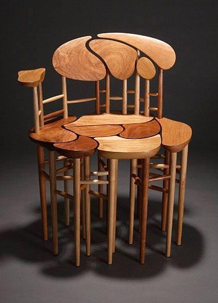 thiết kế nội thất nhà đẹp với ghế gỗ độc đáo