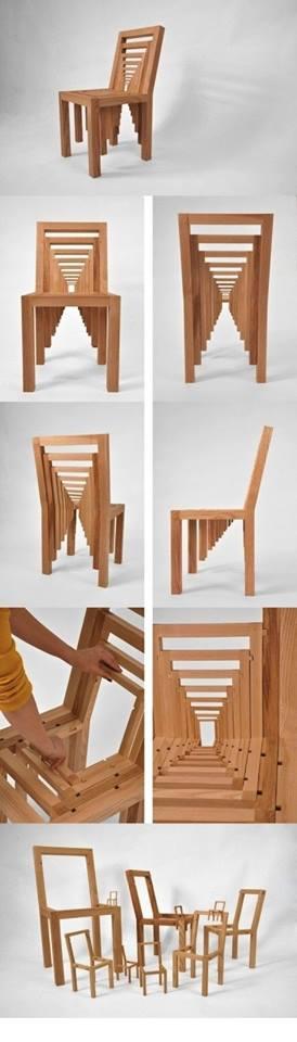 thiết kế ghế gỗ độc đáo cho nhà đẹp