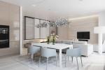 thiết kế nội thất trung tính tự nhiên cho phòng ăn, nhà bếp đẹp