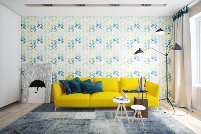 wedo tư vấn thiết kế nội thất phòng khách đẹp với màu vàng