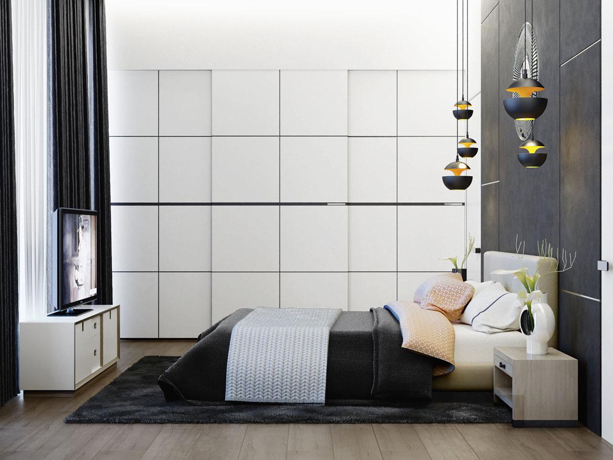 thiết kế nội thất phòng ngủ đơn giản, hiện đại cho nhà đẹp