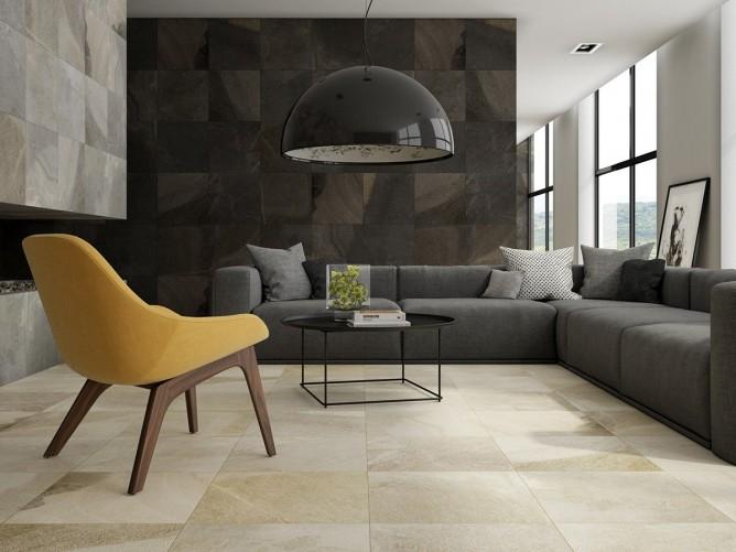 thiết kế nội thất phòng khách đẹp và đẳng cấp với gam màu đen