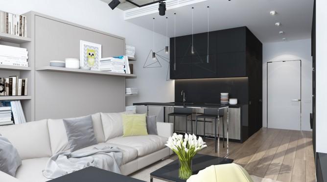 thiết kế nội thất đẹp, tiện nghi cho nhà nhỏ dưới 30 mét