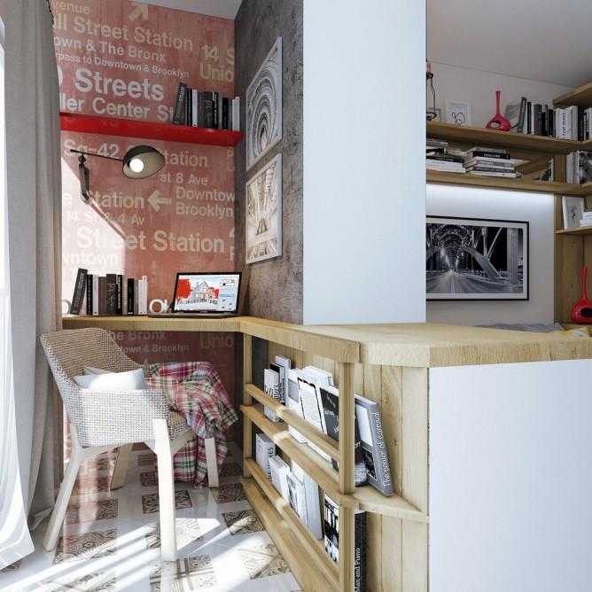 thiết kế nội thất đẹp và tiện dụng cho nhà siêu nhỏ dưới 30 m2